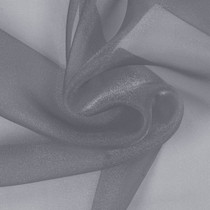 Grey Sparkle Organza