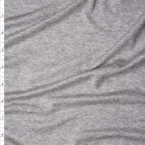 Heather Grey Modal/Lycra Stretch Micro Rib Knit Fabric By The Yard