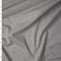 Silver Dusted Heather Grey Sparkle Stretch Cotton Jersey Knit Fabric By The Yard