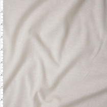 Tissue Weight Ivory Jersey Knit Fabric By The Yard