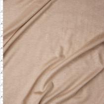 Warm Tan Lightweight Stretch Rayon Jersey Knit Fabric By The Yard