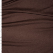 Chocolate Brown Soft Stretch Rayon Jersey Knit Fabric By The Yard