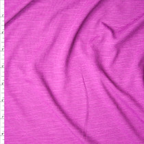 Fuchsia Slubbed Rayon Jersey Knit Fabric By The Yard