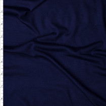 Navy Blue Tissue Weight Rayon Jersey Knit Fabric By The Yard