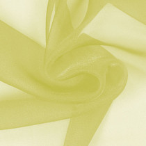 Lemon Sparkle Organza