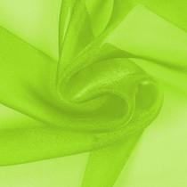 Neon Green Sparkle Organza