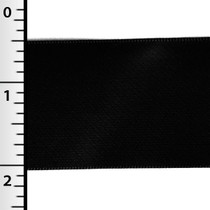 """Black 1.5"""" Satin Ribbon"""