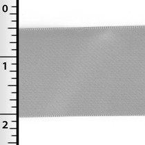 "Silver 1.5"" Satin Ribbon - 50yd Roll"