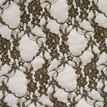 Brown Floral Stretch Lace