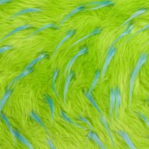 Lime/Turquoise Two-tone Spike Faux Fur