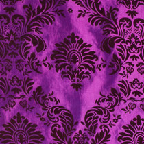 Magenta & Burgundy Flocked Taffeta