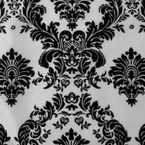 White & Black Flocked Taffeta