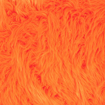 Neon Orange Shag Faux Fur