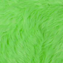 Neon Green Shag Faux Fur