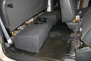 99-06 CHEVY EXTENDED CAB DUAL SUB BOX Amp Rack
