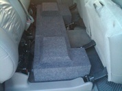 Dual Sub Box (under rear seat) 2001-2006 Silverado CREW HD