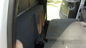 Dual Sub Box (behind rear seat) 2001-2006 SILVERADO CREW HD