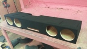 Vented Quad 8s speaker box for 2014-2015 Chevy Silverado Crew and GMC Sierra Crew Cab Trucks