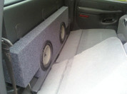2001-2006 Chevy Silverado 1500 Crew cab and GMC Sierra 1500 Crew (non heavy duty series) DUAL 12 SPEAKER BOX