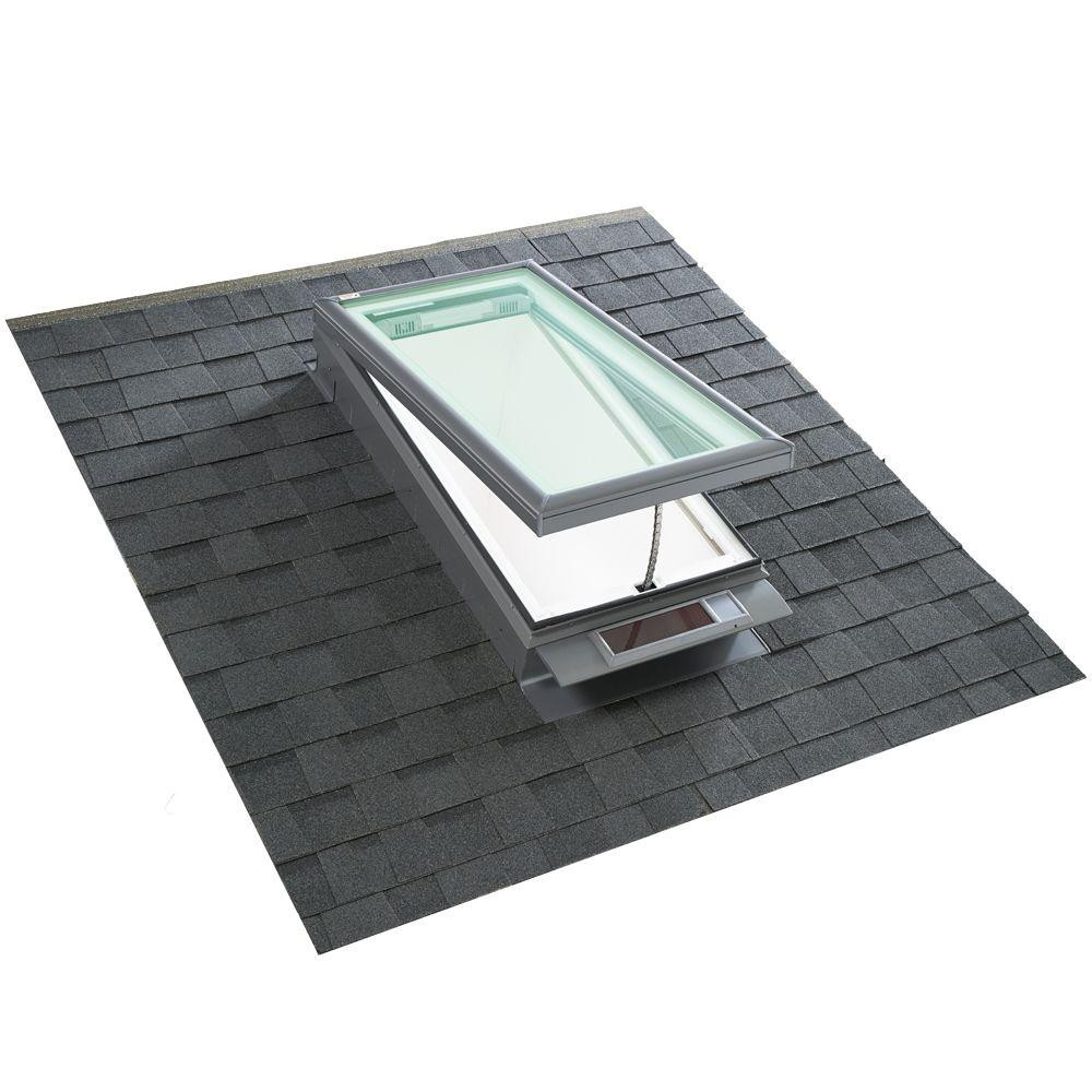 Velux vcs 4622 solar powered skylight for Velux solar skylight tax credit