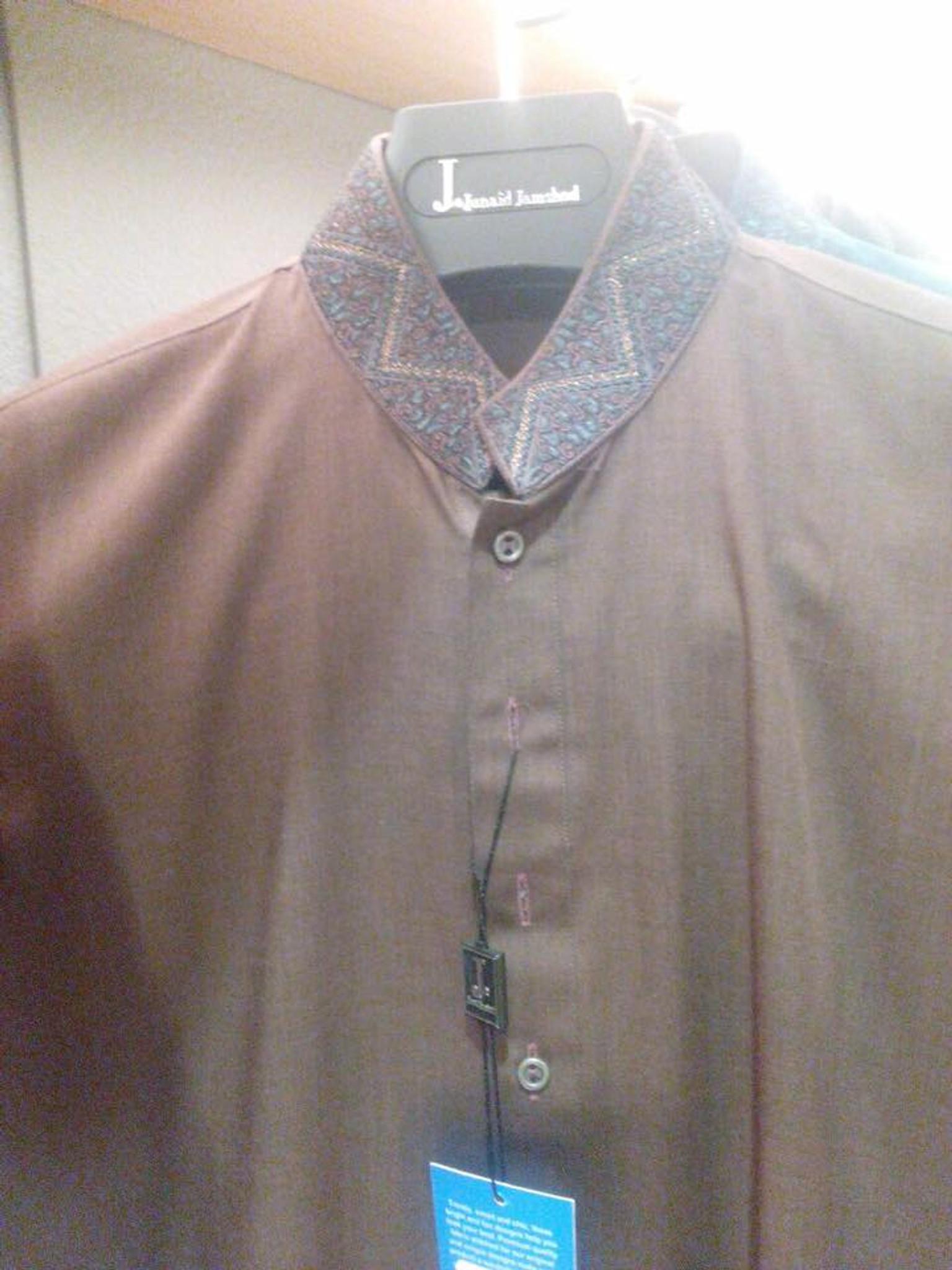 Junaid Jumshed boys shalwar kameez age 12 collar work
