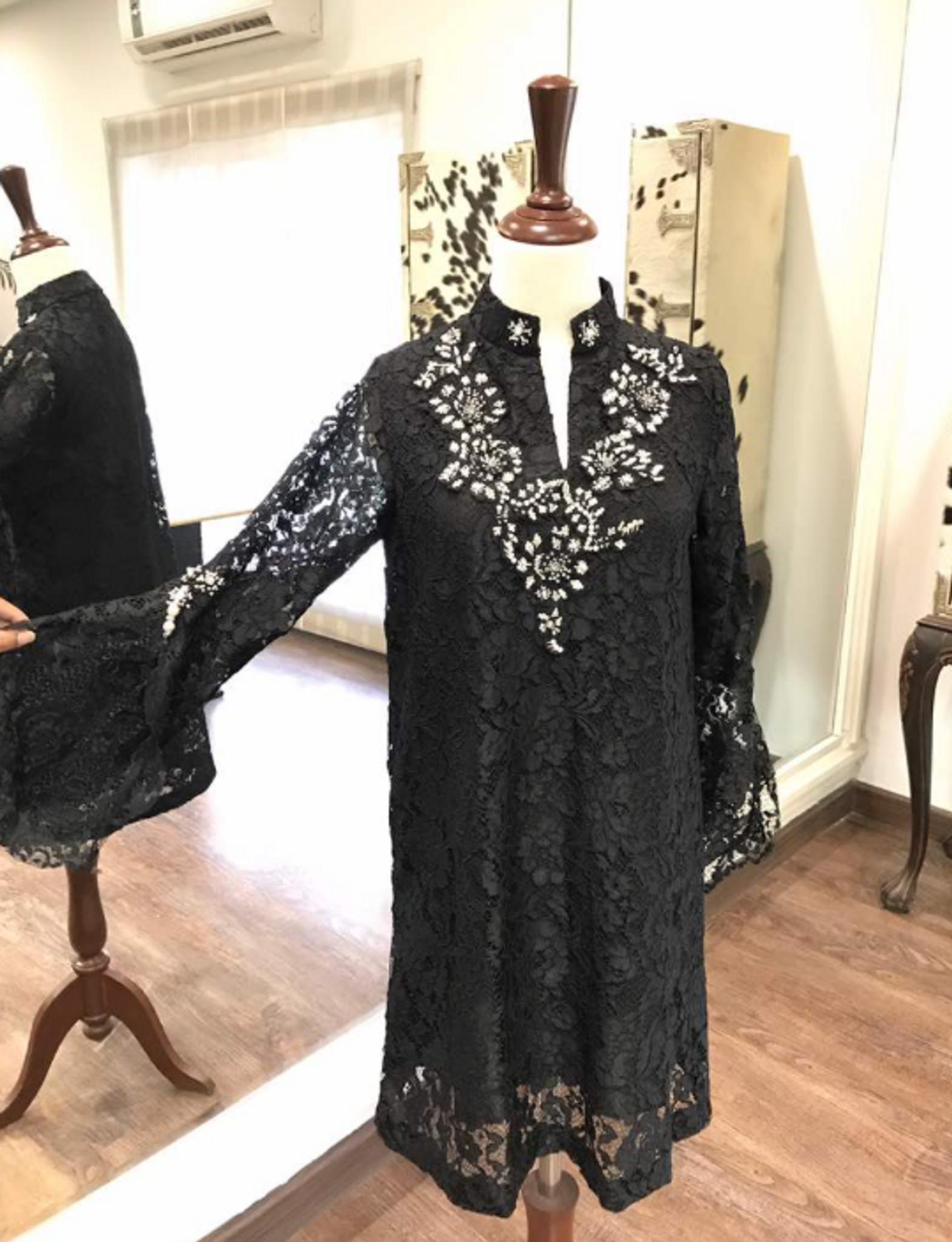 Amber Gohar Embroidered Shirt Black