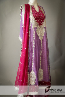 Flowing Light purple and dark pink Dress