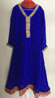 Ink Blue Girls Dress 12 Yrs
