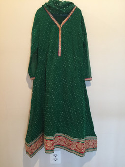 Green Girls Party Dress Age 10/11