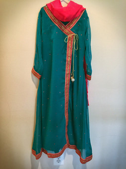 Turquoise Girls Dress 12/13 Yrs