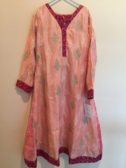 Cotton Net Pink Girls Dress 10 Yrs