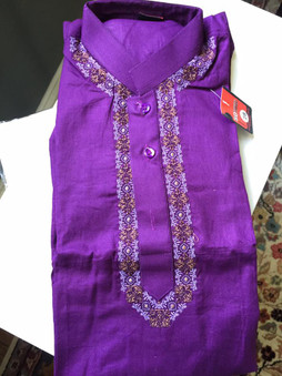 Boys purple shalwar kameez age 6