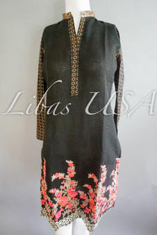 Black Fancy Embroidered Shirt