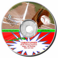 Baseball Personalized Sports Broadcast Audio CD