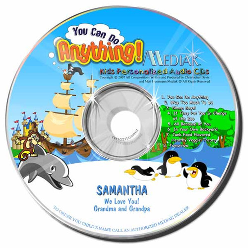 You Can Do Anything Personalized Kids Music CD