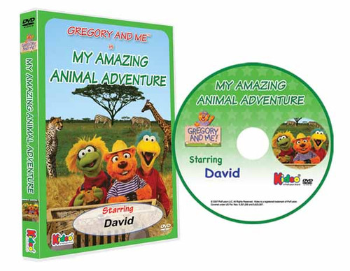 Gregory and Me Animal Adventure Personalized DVD for Kids Case and Disc