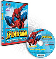 I am the Amazing Spiderman Personalized DVD for Kids Case and Disc
