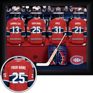 Personalized NHL Locker Room Print