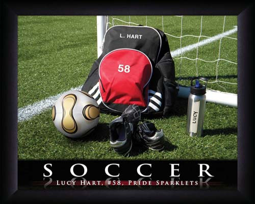 Kids Soccer Personalized Sports Print