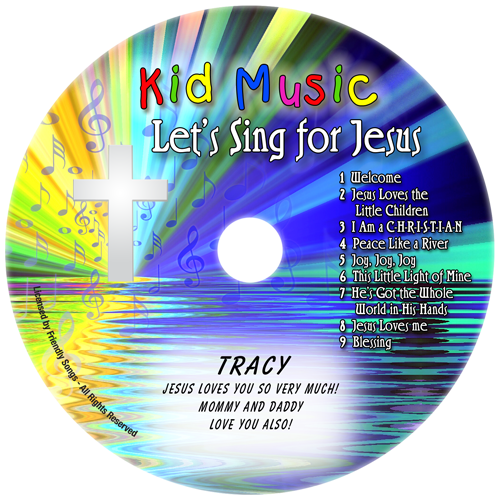Let's Sing For Jesus Personalized Christian Music CD