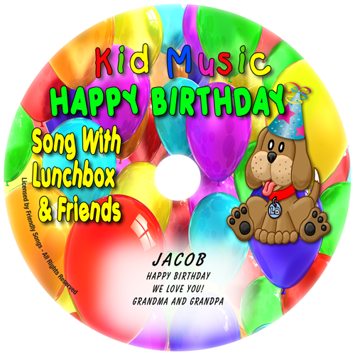 Personalized Happy Birthday Song Personalized Kids Music CD