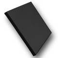 "3/4"" Stretched Black Cotton Canvas  12X12: Box of 5"
