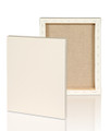 """Extra fine grain :2-1/2"""" Stretched Portrait Linen canvas 16X20: Single Piece"""