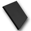 "1-1/2"" Stretched Black Cotton Canvas  4x4: Single Piece"