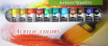 Artist Paints -  Acrylic Colors : Set of 12  X  0.4 OZ  \ 12 ML