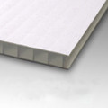 10mm Corrugated plastic sheets: 24 X 18 : 100% Virgin White : Single pc