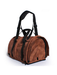 New! SturdiBag Pet Carrier in Mock Cinnamon Leather Print