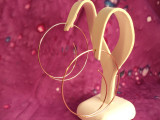 Handmade Large Hoop Livewire Earrings 14k Yellow Gold