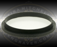 Leica Lens Shield made of high quality optical glass to protect objective lenses for A60 and S6 series microscopes.