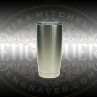 Engravable 18-8 double walled stainless steel vacuum tumbler is a practical item that can be beautifully engraved available at Engraver.com